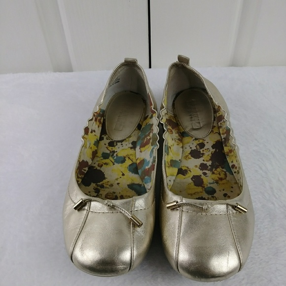 Sperry Shoes - Sperry Top-sider Gold Leather Ballet Flat
